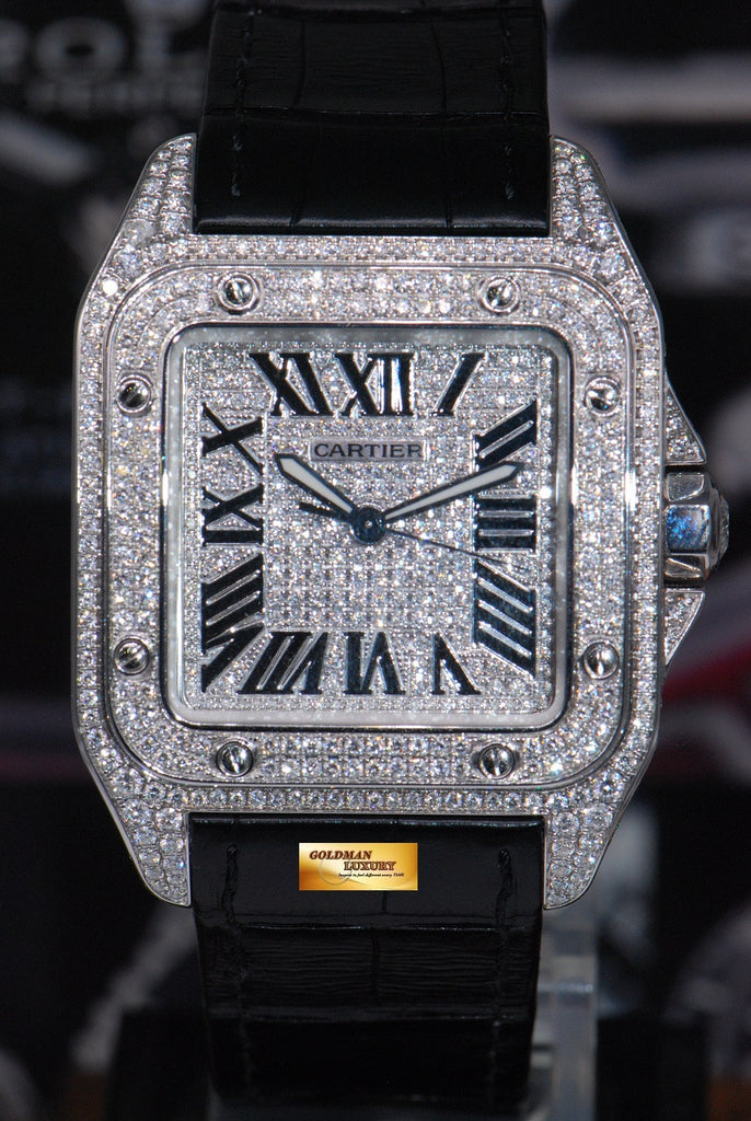 Sold Cartier Santos 100 Xl Custom Full Paved Diamonds