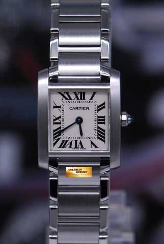 [SOLD] CARTIER TANK FRANCAISE LADIES SMALL QUARTZ 2384 (MINT)