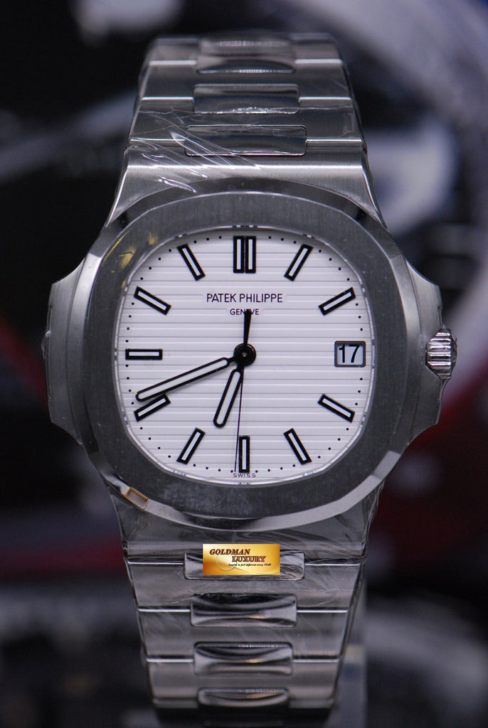 ade7f514fa7 [SOLD] PATEK PHILIPPE NAUTILUS MEN'S STAINLESS STEEL WHITE 5711/1A (NEW-