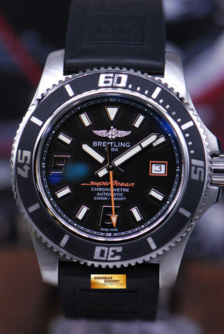 [SOLD] BREITLING SUPEROCEAN 44mm RUBBER BLACK AUTOMATIC (MINT)