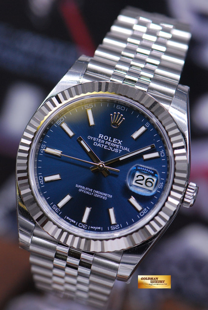 SOLD] ROLEX OYSTER PERPETUAL DATEJUST 41 SS BLUE DIAL