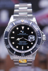 "ROLEX OYSTER PERPETUAL SUBMARINER TRANSITIONAL MODEL ""TRIPLE ZERO"" Ref : 168000 (RARE)"
