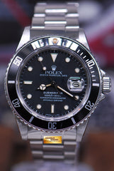 ROLEX OYSTER PERPETUAL SUBMARINER TRANSITIONAL MODEL Ref : 16800 (NEAR MINT)