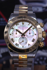 ROLEX OYSTER PERPETUAL DAYTONA HALF-GOLD MOP DIAL Ref : 116523 (MINT)