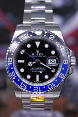 "ROLEX OYSTER PERPETUAL GMT-MASTER II ""BATMAN"" CERAMIC (LOOK NEW IN BOX)"