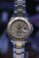 ROLEX OYSTER PREPETUAL YACHT-MASTER LADIES 29mm HALF-GOLD 169623 (MINT)