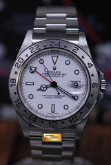 ROLEX OYSTER PERPETUAL EXPLORER II REF 16570 WHITE (MINT)