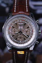 BREITLING BENTLEY 6.75 CHRONOGRAPH GREY DIAL 47mm AUTOMATIC A44362 (MINT)