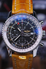 BREITLING NAVITIMER GMT 46mm CHRONOGRAPH BLACK A24322 (MINT)