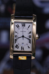 CARTIER TANK AMERICAINE 18K YELLOW GOLD LARGE AUTOMATIC 8172984 (MINT)