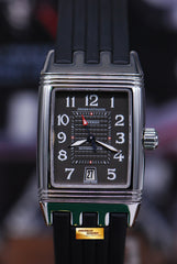JLC REVERSO GRANDE SPORT AUTOMATIC SS RUBBER 290.8.60 (MINT)