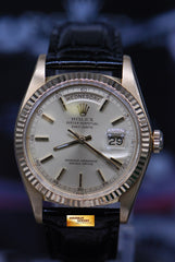 ROLEX OYSTER PERPETUAL DATEJUST DAY-DATE PRESIDENT 18K YELLOW GOLD 1803 (NEAR MINT)