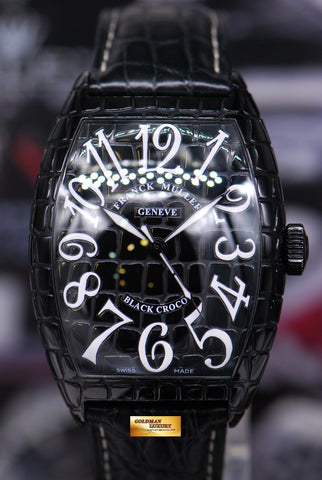 [SOLD] FRANCK MULLER BLACK CROCO AUTOMATIC 8880 SC BLK CRO (NEAR MINT)