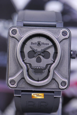 [SOLD] BELL & ROSS SKULL AIRBORNE II PVD COATED AUTOMATIC BR01-92-SAII (MINT)