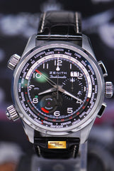 ZENITH PILOT DOUBLEMATIC 45mm CHRONOGRAPH ALARM WORLD TIME BIG DATE AUTOMATIC (MINT)