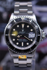 ROLEX OYSTER PERPETUAL VINTAGE RED SUBMARINER MARK VI DIAL 1680 (VINTAGE NEAR MINT)