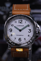 PANERAI LUMINOR BASE HISTORIC 44mm WHITE MANUAL PAM 010 (MINT)