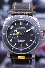 PANERAI LUMINOR SUBMERSIBLE TITANIUM 47mm ANTI-MAGNETIC AUTOMATIC PAM 389 (MINT)