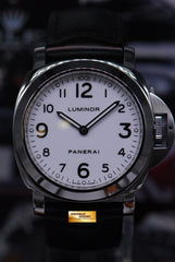 PANERAI LUMINOR BASE HISTORIC 44mm WHITE MANUAL PAM 114 (MINT)