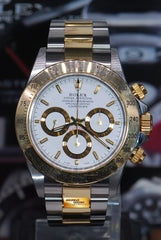 ROLEX OYSTER PERPETUAL DAYTONA HALF-GOLD ZENITH MOVEMENT 16523 (MINT)