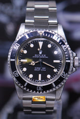 ROLEX OYSTER PERPETUAL VINTAGE SUBMARINER NO-DATE MARK 3 LOLLIPOP DIAL 5513 FULL SET (VINTAGE NEAR MINT)