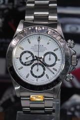 "ROLEX OYSTER PERPETUAL DAYTONA SS ZENITH MVT ""INVERTED 6"" WHITE 16520 (NEAR MINT)"