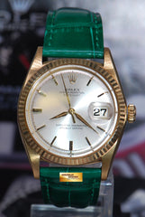 ROLEX OYSTER PERPETUAL DATEJUST 18K YELLOW GOLD 36mm AUTOMATIC 1601 (VINTAGE)