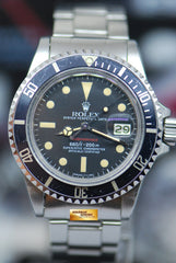 "ROLEX OYSTER PERPETUAL VINTAGE RED SUBMARINER MARK 6 DIAL ""CLOSE 6"" 1680 (VINTAGE AGING)"