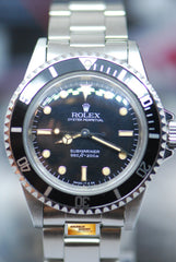 "ROLEX OYSTER PERPETUAL NO-DATE SUBMARINER 40mm ""SPIDER GLOSSY DIAL"" FULL SET 5513 (VINTAGE MINT)"