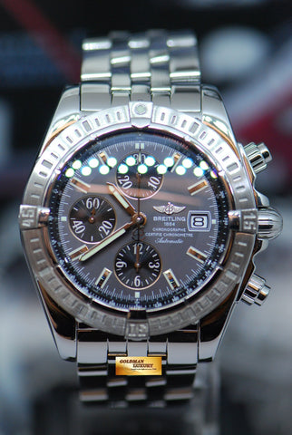 BREITLING CHRONOMAT EVOLUTION 44mm STAINLESS STEEL CHRONOGRAPH A13356 (MINT)