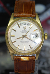 ROLEX OYSTER PERPETUAL DAY-DATE 18K YELLOW GOLD 36mm CREAM DIAL AUTOMATIC 1803 (VINTAGE)