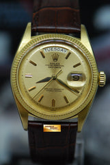 ROLEX OYSTER PERPETUAL DAY-DATE 18K YELLOW GOLD 36mm GOLD DIAL AUTOMATIC 1803 (VINTAGE)