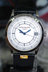 "PATEK PHILIPPE CALATRAVA 18K WHITE GOLD 38mm ""SECTOR DIAL"" AUTOMATIC 5296G-001 (NEAR MINT)"