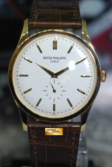 PATEK PHILIPPE CALATRAVA SUB-SEC DIAL 18K ROSE GOLD 37mm OPALINE DIAL MANUAL 5196J (MINT)
