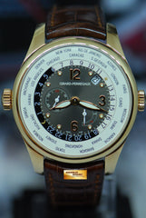GIRARD PERREGAUX WORLD TIME WW.TC 18K ROSE GOLD POWER RESERVE AUTOMATIC 49850 (MINT)