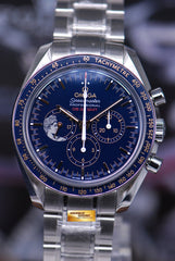 "OMEGA SPEEDMASTER APOLLO XVII ""THE LAST MAN ON THE MOON"" BLUE LIMTIED EDITION (BNIB)"