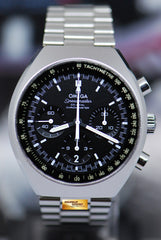 "OMEGA SPEEDMASTER MARK II ""RE-ISSUE"" CHRONOGRAPH CO-AXIAL AUTOMATIC BLACK (MINT)"