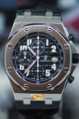 AUDEMARS PIGUET ROYAL OAK OFFSHORE CHRONOGRAPH 42mm BLACK THEME 26020ST (MINT)