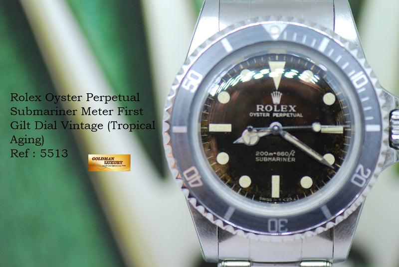 products/GML1943_-_Rolex_Oyster_Submariner_Tropical_Gilt_Dial_Meter_First_5513_-_12.JPG