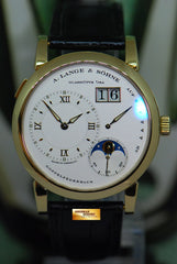 [SOLD] A.LANGE & SOHNE LANGE 1 MOONPHASE 18K YELLOW GOLD 38.5mm MANUAL 109.021 (MINT)