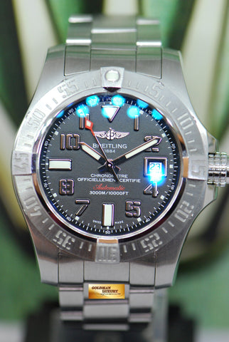 [SOLD] BREITLING AVENGER SEAWOLF II 44mm STEEL AUTOMATIC A17331 (MINT)