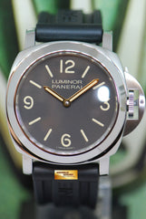 PANERAI LUMINOR MARINA 44mm TOBACCO BROWN DIAL PAM 390 MANUAL (MINT)