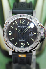 PANERAI LUMINOR MARINA 44mm TAPESTRY DIAL GMT AUTOMATIC PAM 29 (MINT)