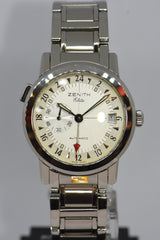 ZENITH PORT ROYAL V DUAL TIME 38mm ELITE AUTOMATIC 02.0450.682 (NEAR MINT)
