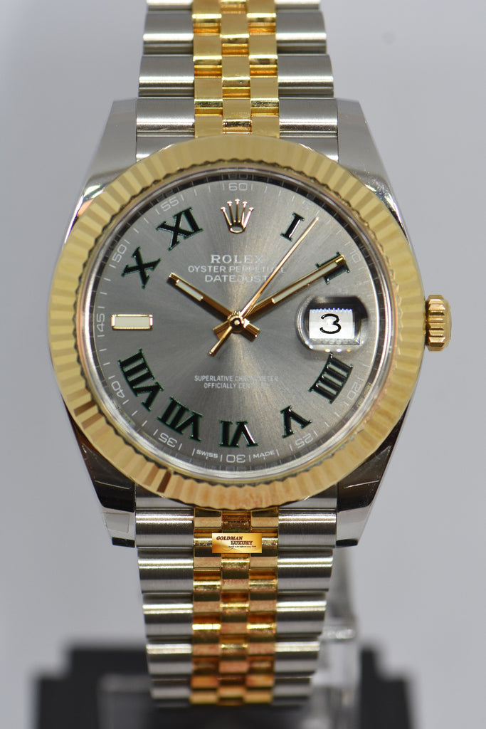 SOLD] ROLEX OYSTER PERPETUAL DATEJUST 41mm HALF,GOLD