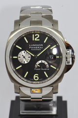 PANERAI LUMINOR POWER RESERVE 44mm TITANIUM / STEEL BRACELET AUTOMATIC PAM 171 (MINT)