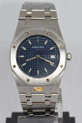 [SOLD] AUDEMARS PIGUET ROYAL OAK MIDSIZE BLUE DIAL QUARTZ (MINT)