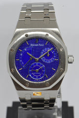 [SOLD] AUDEMARS PIGUET ROYAL OAK 36mm POWER RESERVE DUAL TIME RARE BLUE DIAL AUTOMATIC 25730ST (MINT)