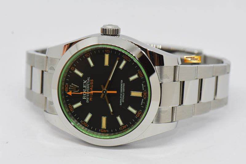 products/GML2125_-_Rolex_Oyster_Milgauss_Green_Sapphire_39mm_Automatic_116400GV_NEW_-_9.JPG
