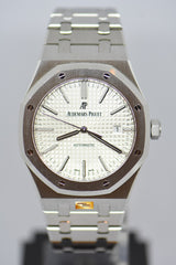 [SOLD] AUDEMARS PIGUET ROYAL OAK 41mm STEEL IN BRACELET WHITE AUTOMATIC 15400ST (MINT) (UNPOLISHED)